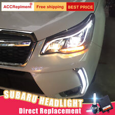 2Pcs For Subaru Forester Headlights assembly Bi-xenon Lens Projector LED DRL