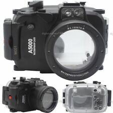 40M 130ft Underwater Diving Waterproof Housing Case for Sony A5000 16-50mm Lens
