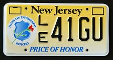 """NEW JERSEY """" FALLEN POLICE OFFICERS - HONOR """" NJ Specialty License Plate"""