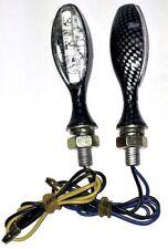 Frecce Indicatori Direzione Led Moto Custom Naked Universali Metallo  Carbonio