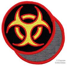 BIOHAZARD SYMBOL embroidered PATCH ZOMBIE APOCALYPSE w/ VELCRO® Brand Fastener