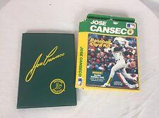 VTG 1989 MLB Oakland Athletics Jose Canseco Baseball Card Kit