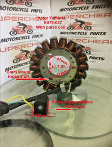 Stator/Magneto, K079-037, Suits various Yamaha's, Scooters and Dirt Bikes.