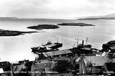 xtc-57 Harbour and Holm Islands, Stromness, Orkney. Photo