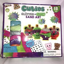 Cuties Create Your Own Glitter & Glow Sand Art 18 Piece Kit