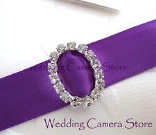 24 Oval Rhinestone Ribbon Buckles for Wedding Card