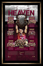 QUEENSLAND MAROONS NRL STATE OF ORIGIN CAM SMITH SIGNED FRAMED LIMITED PRINT