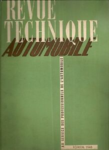 REVUE TECHNIQUE AUTOMOBILE 22 RTA 1948 ETUDE CITROEN T45 CHROMAGE