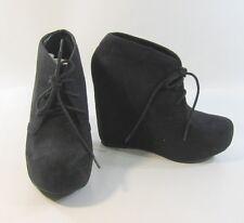 "new Blacks 5""high hidden wedge heel 1.5 platform  ankle sexy boots size  8.5"
