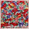 BonEful Fabric FQ Cotton Quilt Fruit Flower Red Sm Pear Strawberry Cherry Calico