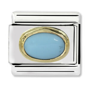 GENUINE Nomination Classic Turquoise Oval Stone Charm 030502/06 / £29 RRP