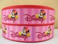 "BTY 1"" Disney Pink Minnie Mouse Grosgrain Ribbon Hair Bows Lanyards Lisa"