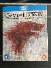 Game Of Thrones The Complete 1 & 2 Seasons Region Free Blu-rays