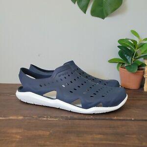 Crocs Swiftwater Wave Sandals Shoes Navy Blue Mens Size 9