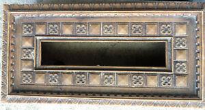 Vtg faux wood Carved Floral Clover kleenex Tissue Box Cover Holder Mid Century