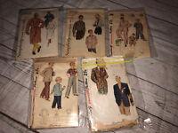Simplicity Vintage Patterns Mens Boys Clothes Robe Sleepwear 2312 2212 2251