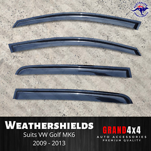 Premium Weathershields Window Visors for Volkswagen Golf MK6 2009-2013 VW
