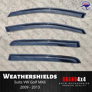 Premium Weathershields Window Visors for Volkswagen Golf MK6 2009-2013 VW