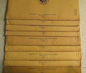 SAUDI ARABIA GEOGRAPHIC MAPS 1956-1962 ORIGINAL SLEEVES MIDDLE EAST ASIA 9 MAPS