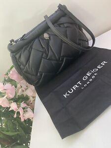 Kurt Geiger LARGE Soft Quilted Kensington Clutch/crossbody Bag Black BNWT  £189