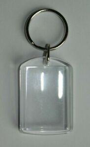 Acryl Schlüsselanhänger 3 x 4,5 cm transparent für Foto oder Texteinlage