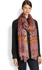 GUCCI Everil Modal Silk Paisley Print Long Scarf Shawl Wrap Old Rose $990