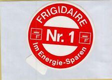 ADESIVO VINTAGE STICKER F FRIGIDAIRE NR 1 IM ENERGIE SPAREN