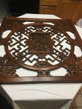 """Solid Wood Chinese Ancient Rare Art Work-39 1/2"""" X 39 1/2""""-VINTAGE COLLECTIBLE"""
