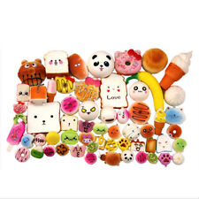 30Pcs Jumbo Medium Mini Random Squishy Soft Panda Bread Cake Buns Phone Straps
