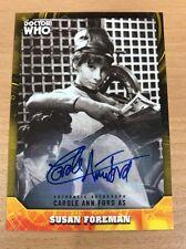 Topps Dr Who Signature Series Carole Ann Ford 09/25 As Susan Foreman Auto Card