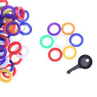 10Pcs Candy Color Hollow Silicone Key Cap Covers Topper Keyring Circle Holder JB