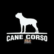 Cane Corso Vinyl Sticker Akc Register Breed Dog Groomer Rescue I Love