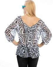 Women's Plus Geometric Polyester Career Tops & Blouses