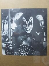 Gene Simmons reprint Black & White Poster  KISS Rock n' Roll 1970's inv#G2874