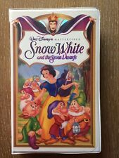 Snow White and the Seven Dwarfs Masterpiece Collection Clamshell VHS