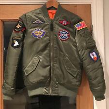 Bomberjacke Blouson sage green Alpha Industries MA-1 VF Custom