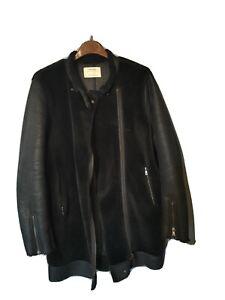 Cappotto montone donna nero parka coat invernale pelliccia