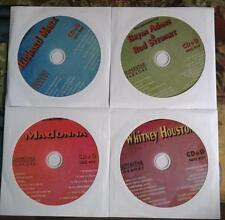 4 CDG DISCS LOT 80'S KARAOKE HITS OF MADONNA,WHITNEY HOUSTON CD MUSIC CD+G