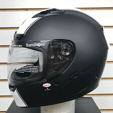 Open Box Bell Qualifier DLX MIPS Motorcycle Helmet Rally Matte Black/White Small