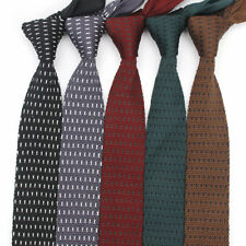 Lot 5 PCS Men's Knit Neck Tie Striped Skinny Knitted Necktie Mens Knitting Ties