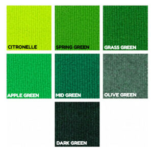 CORD Green Olive Lime | Ribbed Carpet Recyclable Ideal Temporary Budget Flooring
