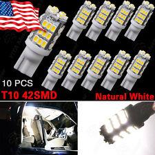 10 X Natural White 42smd RV Camper Trailer Backup Reverse LED Lights T10/921/194