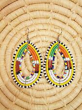 New African Maasai Earrings Masai Massai Africa S/M jemo458