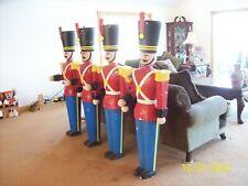 "Rare Vintage Christmas Toy Soldiers Nutcracker Styrofoam 62"" tall Set Of 4"