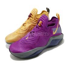 Nike LeBron Soldier XIV EP 14 LA Lakers Purple Gold Mens Shoes CK6047-500
