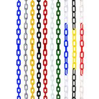 6mm Plastique Maillon de chaîne barrière sécurité Clôture de jardin 5m / 10m