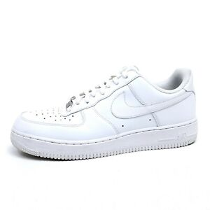 Nike Air Force 1 '07 Sneakers Mens 11 Low Top Shoes Leather White 315122-111