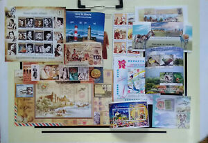 India  12 diff miniature sheets air mail biodiversity lighthouse Tagore heroines