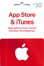 iTunes Gift Card £30 GBP UK British Apple App Store  Code £30 Pound  | 2 x £15