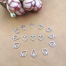 Jewelry making Find,DIY 50pcs heart Charms Alloy necklace bracelet Pendants